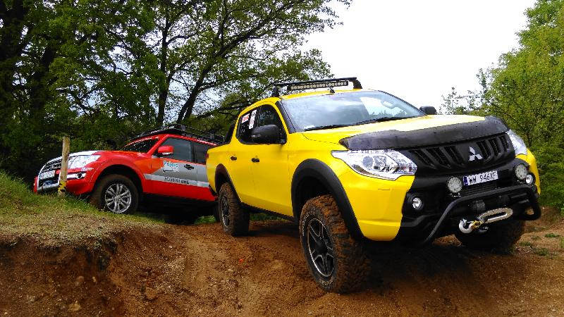 Przetestuj terenowe Mitsubishi